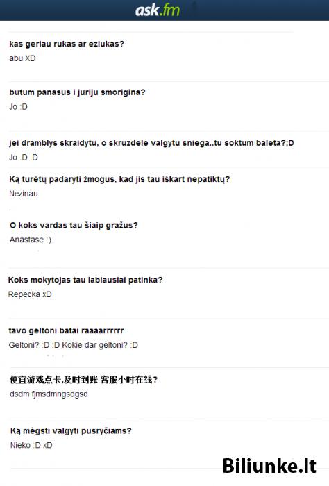 "Nauja rubrika - ""Ask.fm linksmuoliai"""