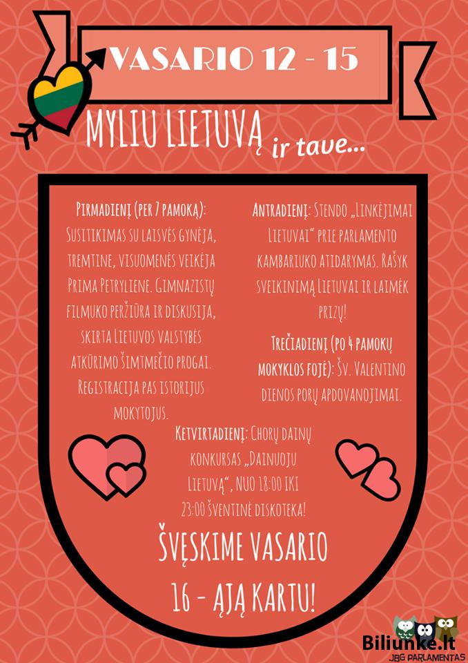 Myliu Lietuvą ir tave...