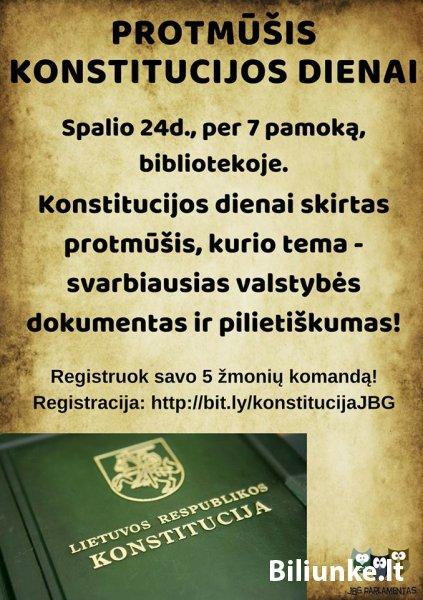 Registruokis į Konstitucijos protmūšį!